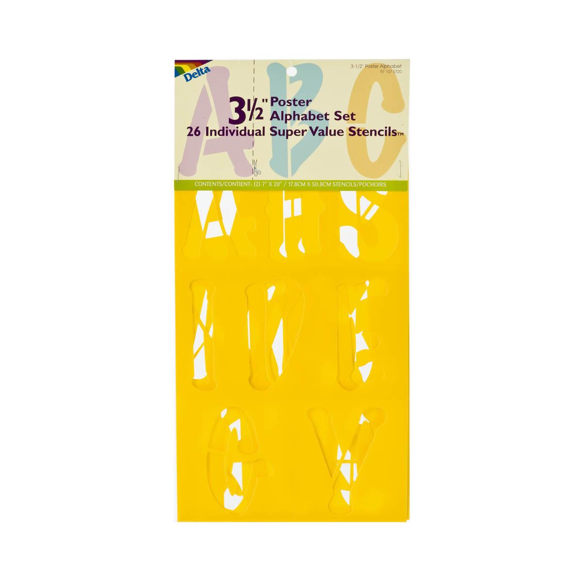 Delta Stencils - Alphabet - Poster, 3-1/2