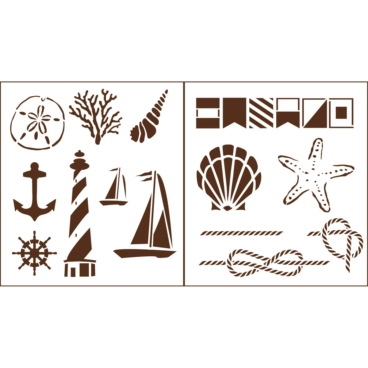 Martha Stewart Crafts ® Nautical Study Laser-Cut Stencils
