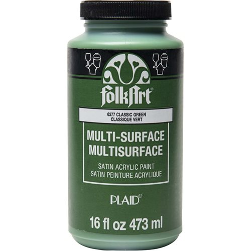 FolkArt ® Multi-Surface Satin Acrylic Paints - Classic Green, 16 oz. - 6377
