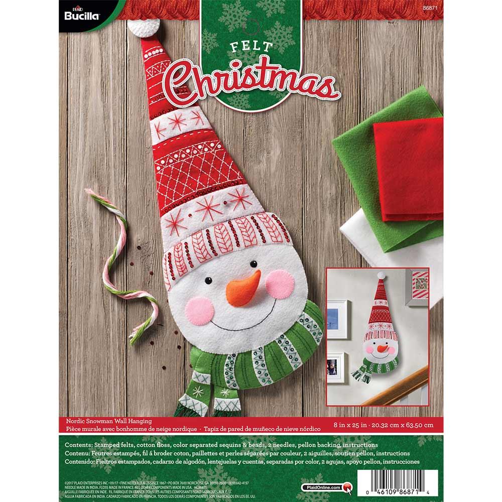 Bucilla ® Seasonal - Felt - Home Decor - Nordic Snowman Wall Hanging - 86871