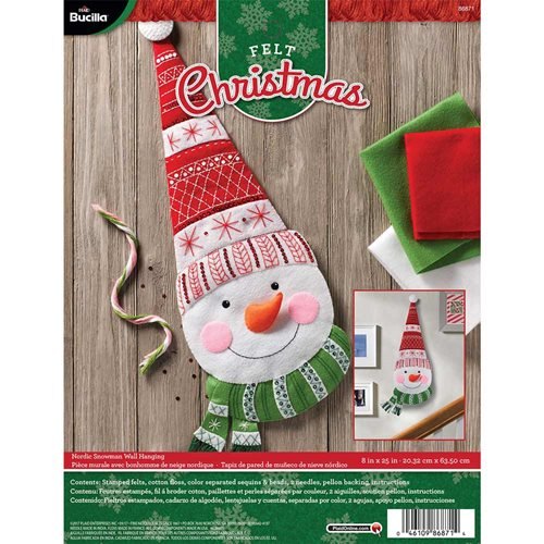Bucilla ® Seasonal - Felt - Home Decor - Nordic Snowman Wall Hanging - 86871