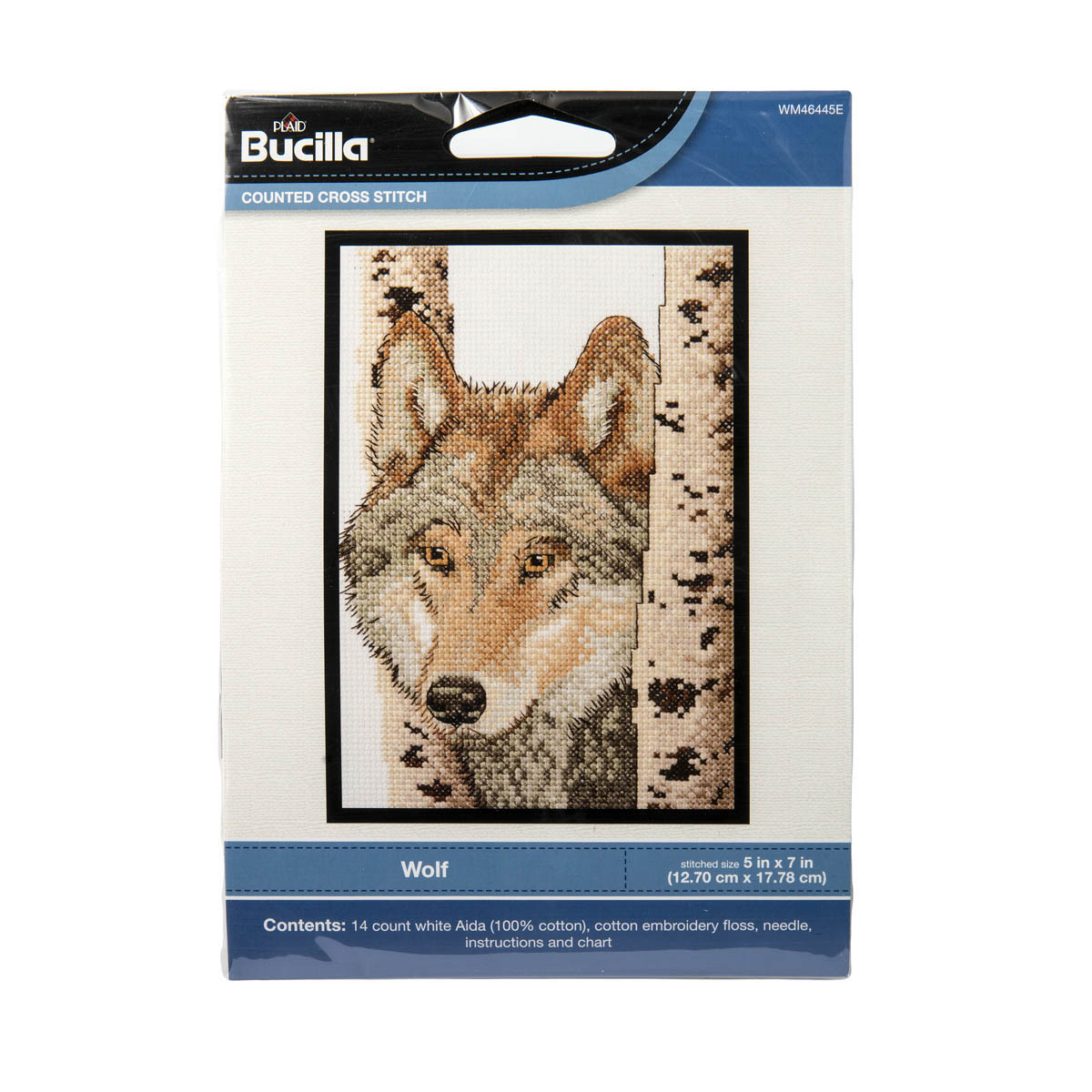 Bucilla ® Counted Cross Stitch - Picture Kits - Mini - Wolf