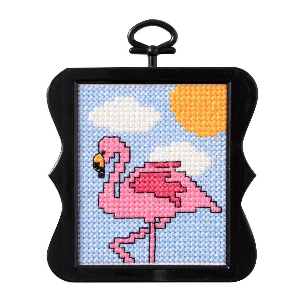 Bucilla ® Counted Cross Stitch - Beginner Stitchery - Mini - Flamingo