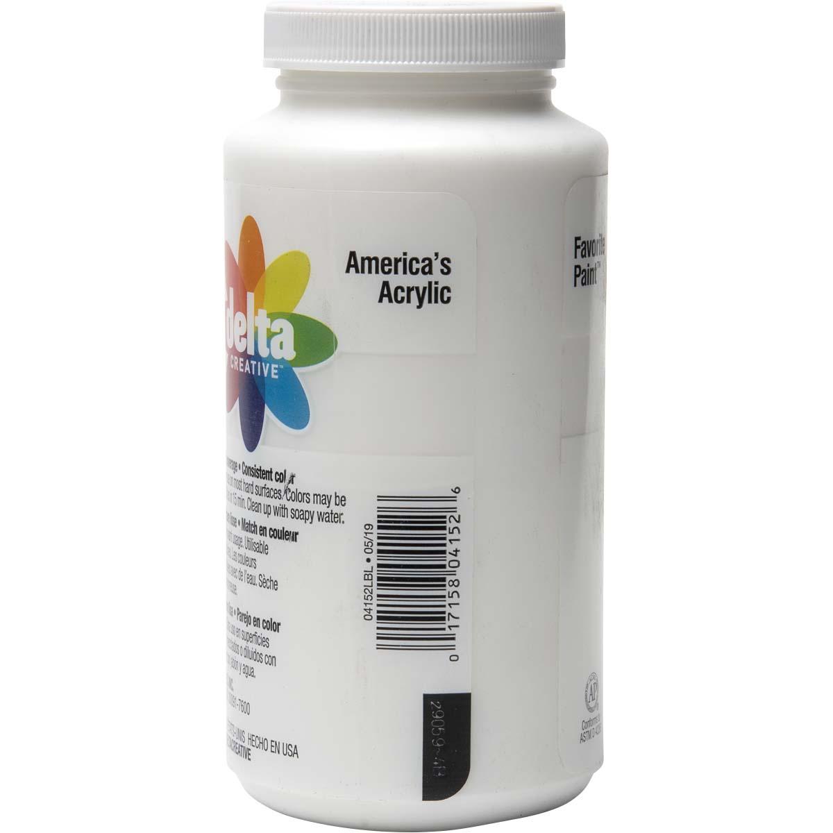 Delta Ceramcoat ® Acrylic Paint - White, 16 oz. - 04152