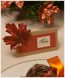 Fall Leaf Placecards