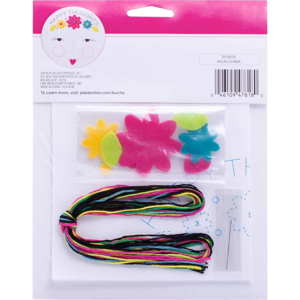 Bucilla ® My 1st Stitch™ - Stamped Cross Stitch Kits - Happy Thoughts