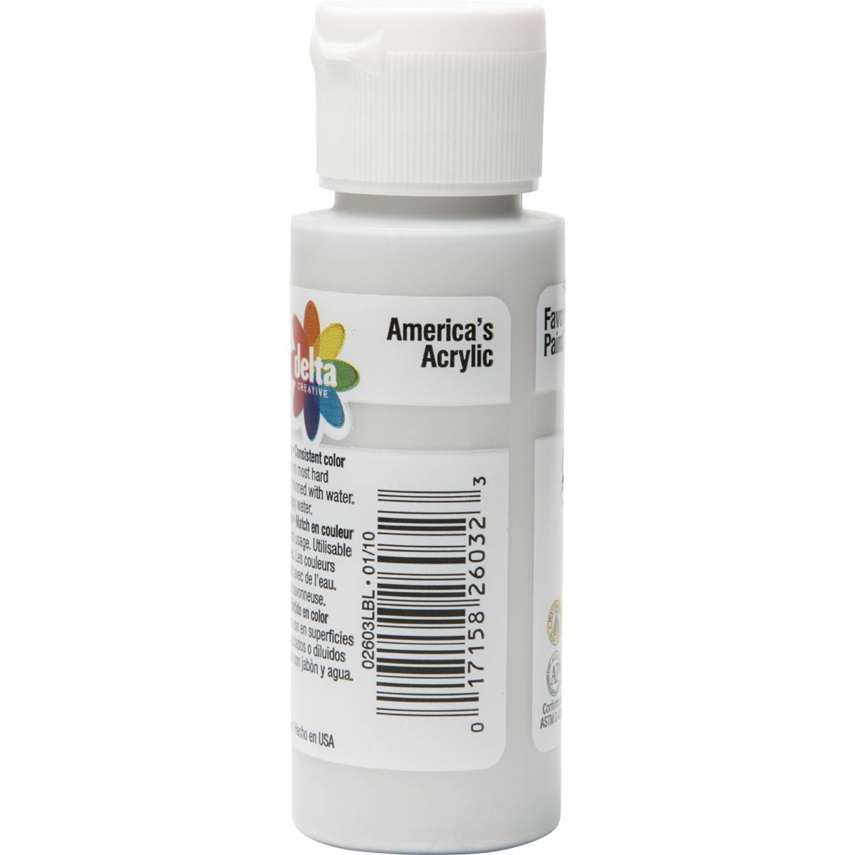 Delta Ceramcoat ® Acrylic Paint - Metallic Silver, 2 oz.