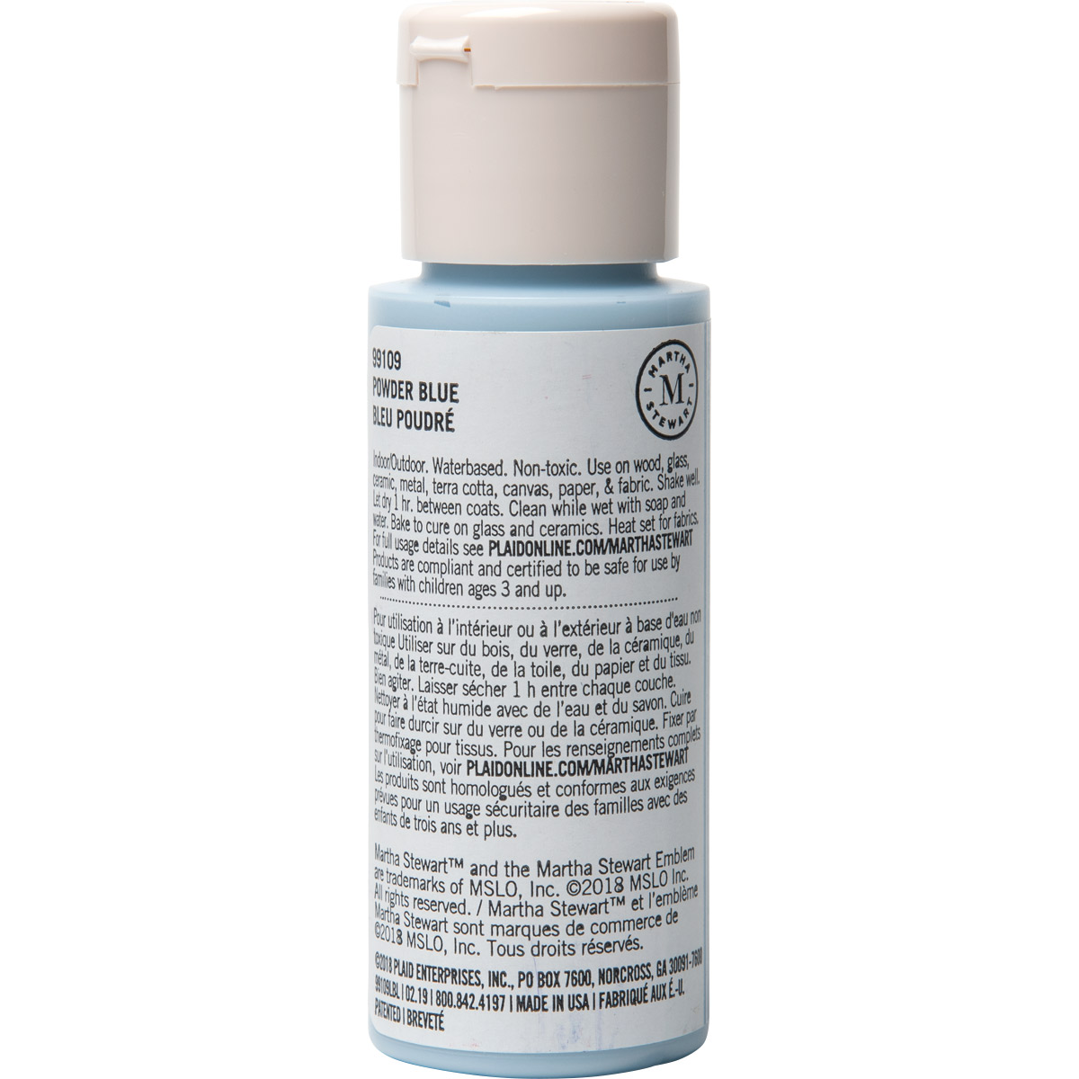 Martha Stewart® 2oz Multi-Surface Satin Acrylic Craft Paint - Powder Blue