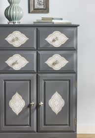 DIY Matte Chalk-Finish Cabinet