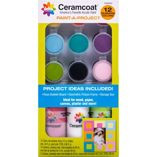 Delta Ceramcoat ® Paint-A-Project - Celebration, 12 Colors