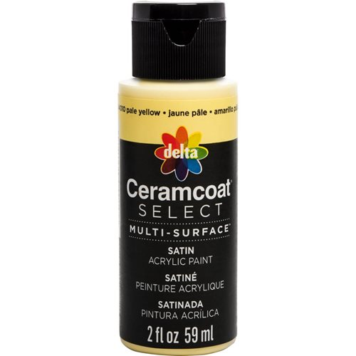 Delta Ceramcoat ® Select Multi-Surface Acrylic Paint - Satin - Pale Yellow, 2 oz.