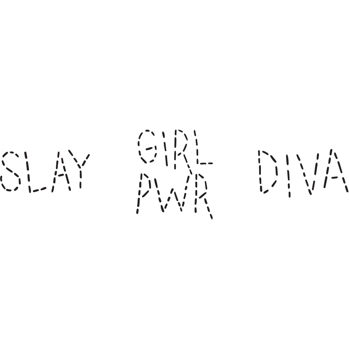 Fabric Creations™ Adhesive Stencils - Mini - Slay, 3