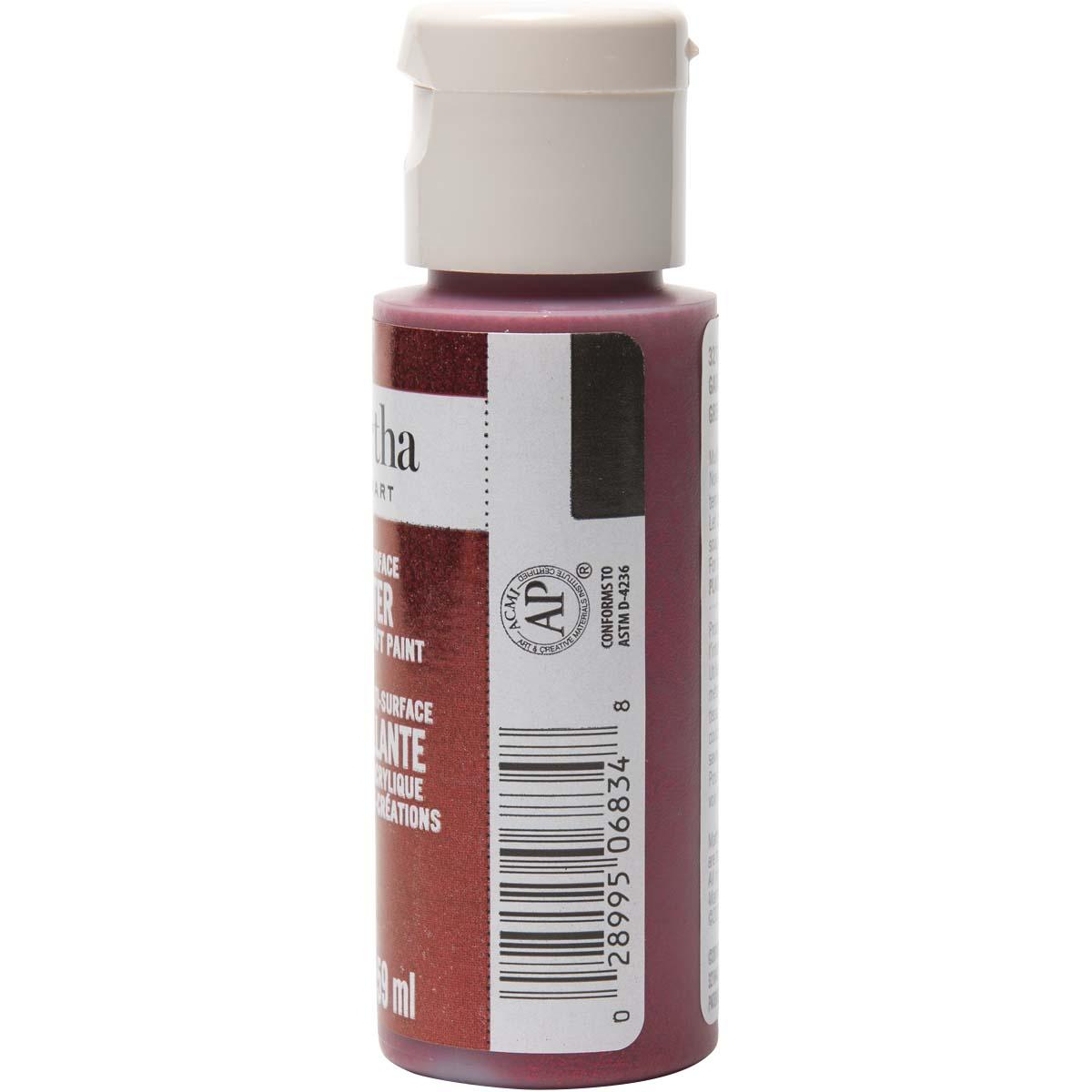 Martha Stewart® 2oz Multi-Surface Glitter Acrylic Craft Paint - Garnet