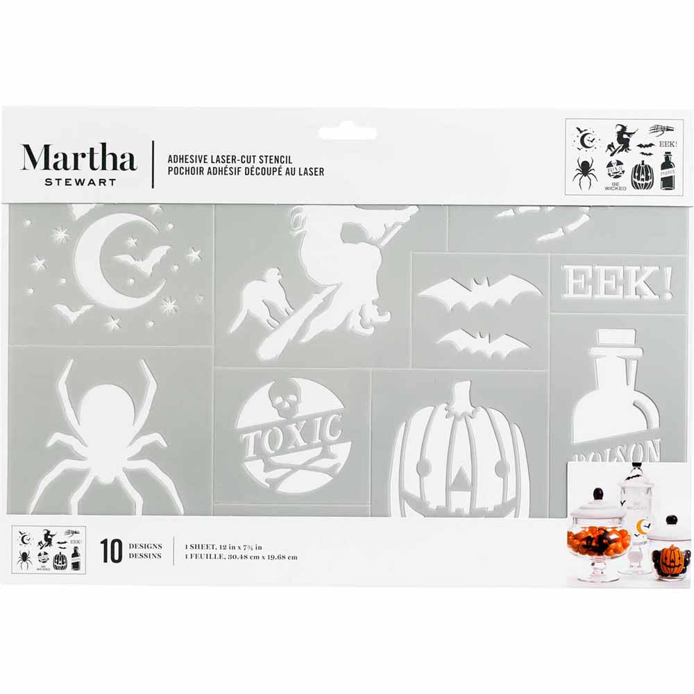 Martha Stewart ® Adhesive Stencil - Halloween - 5651
