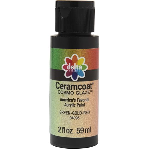 Delta Ceramcoat ® Cosmo Glaze™ - Green-Gold-Red, 2 oz. - 04095