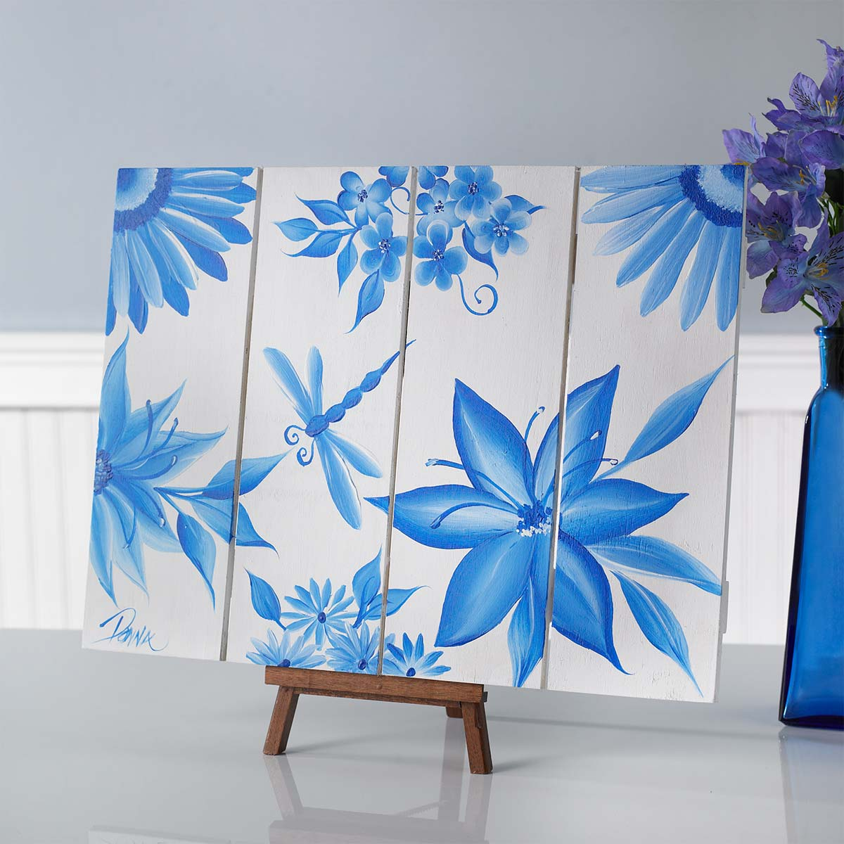 Monochromatic Floral Wall Art Project Plaid Online