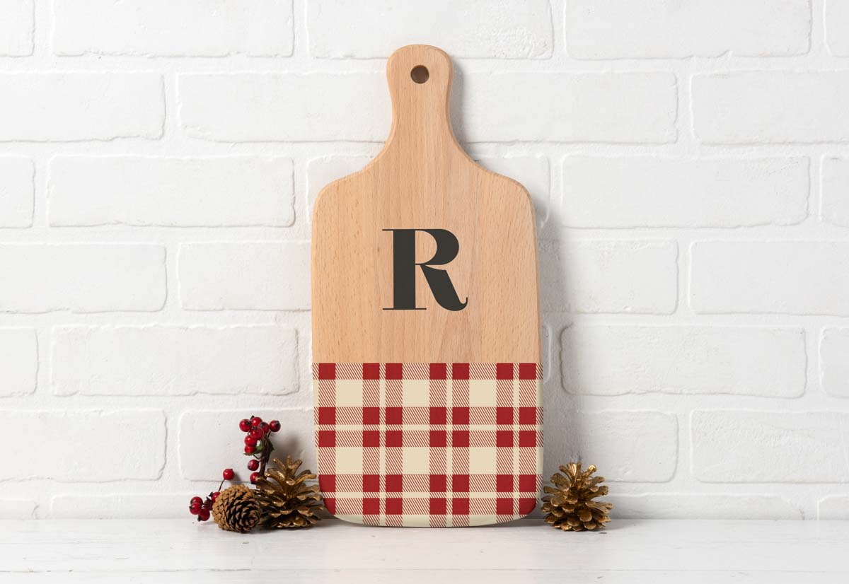 Plaid Background Sign