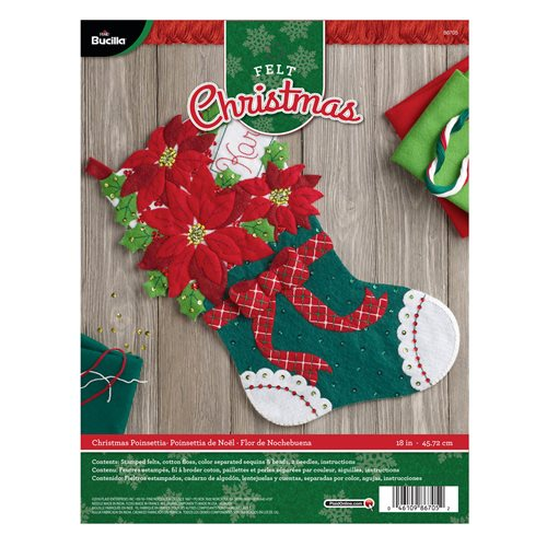 Bucilla ® Seasonal - Felt - Stocking Kits - Christmas Poinsettia