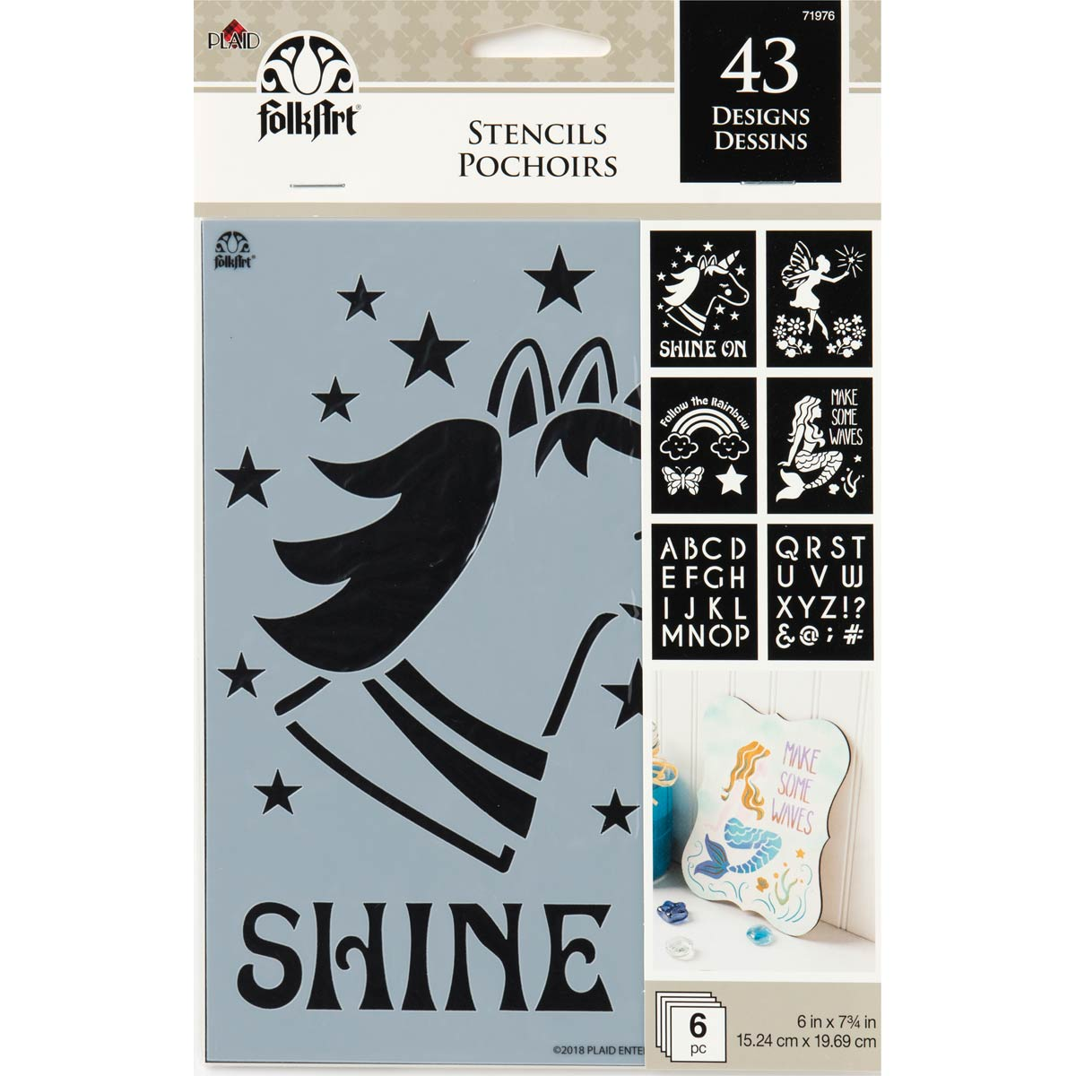 FolkArt ® Craft Stencils - Value Packs - Fantasy