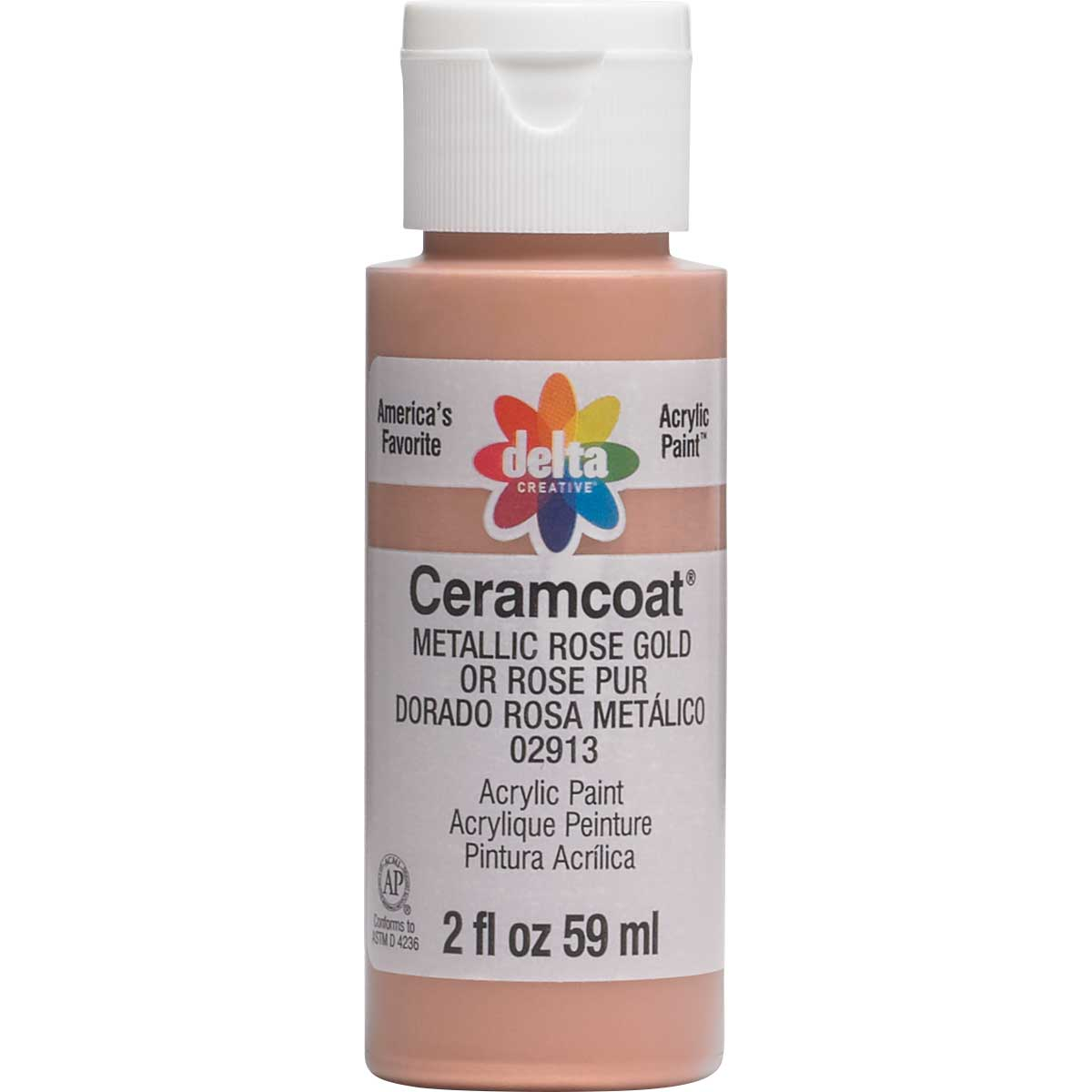 Delta Ceramcoat ® Acrylic Paint - Metallic Rose Gold, 2 oz. - 02913