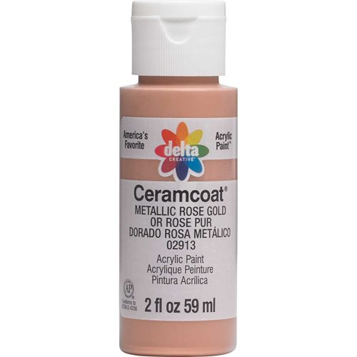 Delta Ceramcoat ® Acrylic Paint - Metallic Rose Gold, 2 oz.