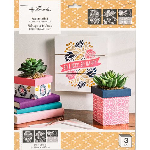 "Hallmark Handcrafted Adhesive Stencils - So Happy Design Pack, 8-1/2"" x 9-1/2"" - 39287"