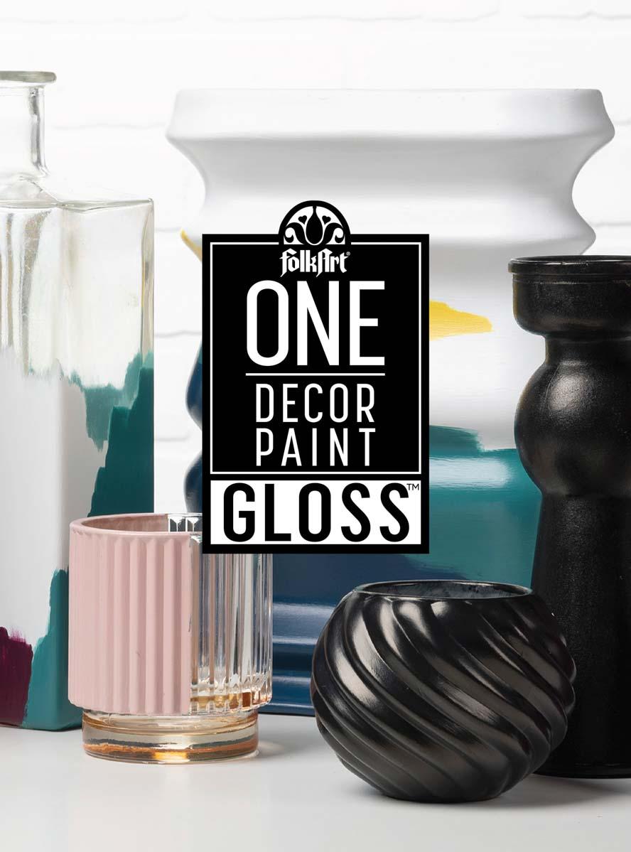 FolkArt ® One Décor Paint™ Gloss - Beeswax, 8 oz. - 11906