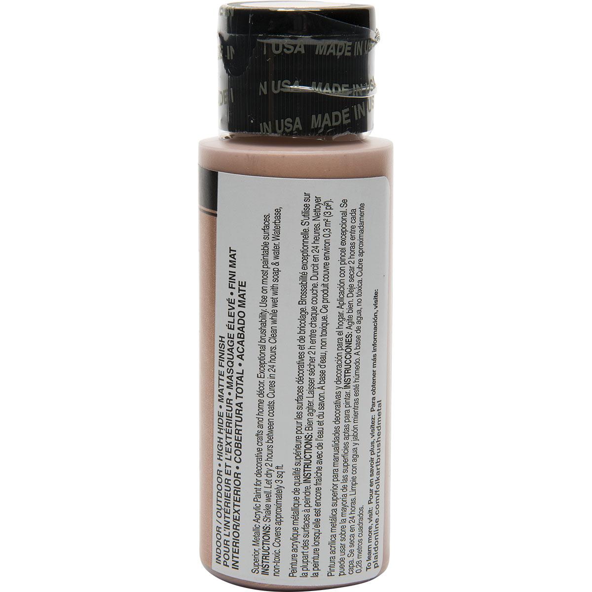 FolkArt ® Brushed Metal™ Acrylic Paint - Rose Gold, 2 oz. - 5124