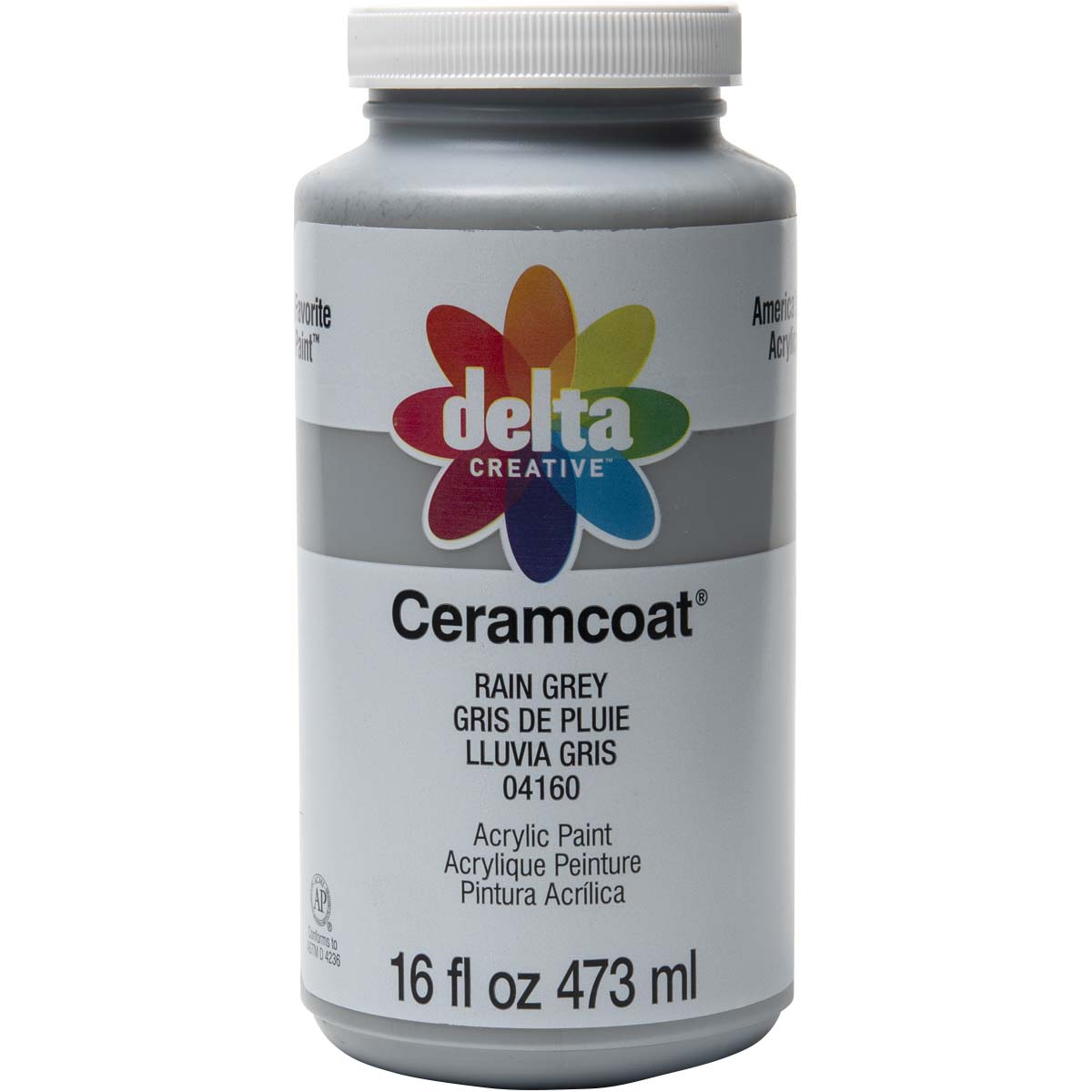 Delta Ceramcoat ® Acrylic Paint - Rain Grey, 16 oz.