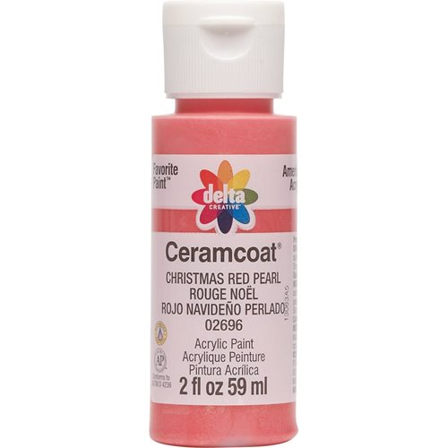 Delta Ceramcoat ® Acrylic Paint - Christmas Red Pearl, 2 oz. - 02696