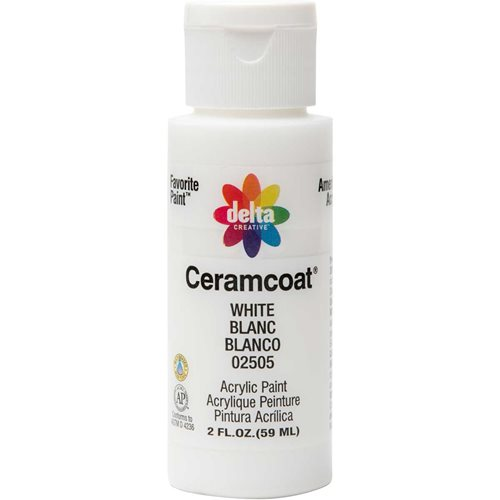 Delta Ceramcoat ® Acrylic Paint - White, 2 oz. - 025050202W