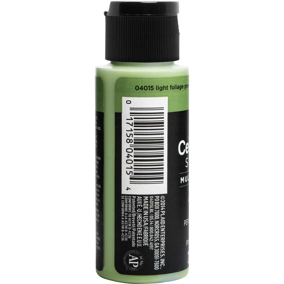 Delta Ceramcoat ® Select Multi-Surface Acrylic Paint - Satin - Light Foliage Green, 2 oz. - 04015