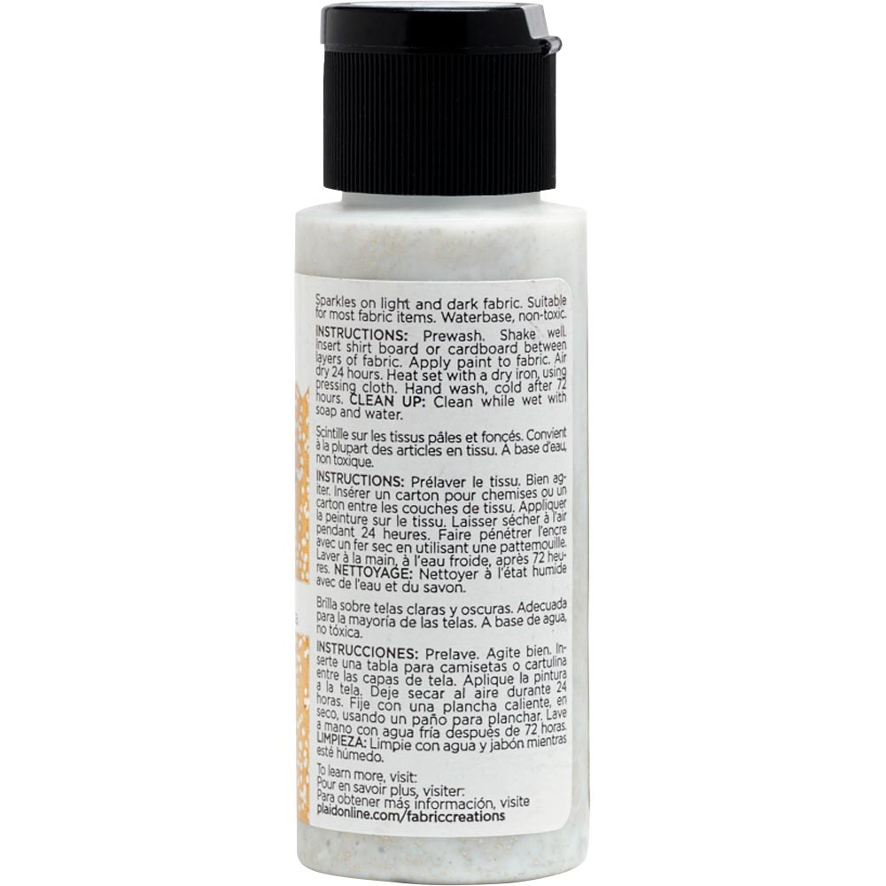 Fabric Creations™ Fantasy Glitter™ Fabric Paint - Pirate's Gold, 2 oz. - 26316