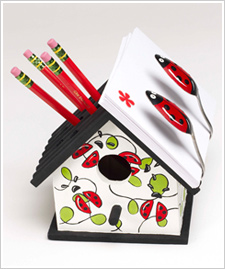 Birdhouse Pencil and Note Holder