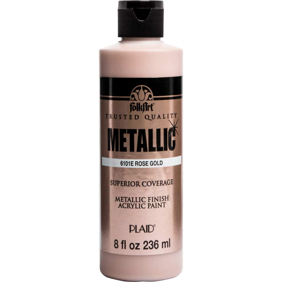 FolkArt ® Metallics - Rose Gold , 8 oz.