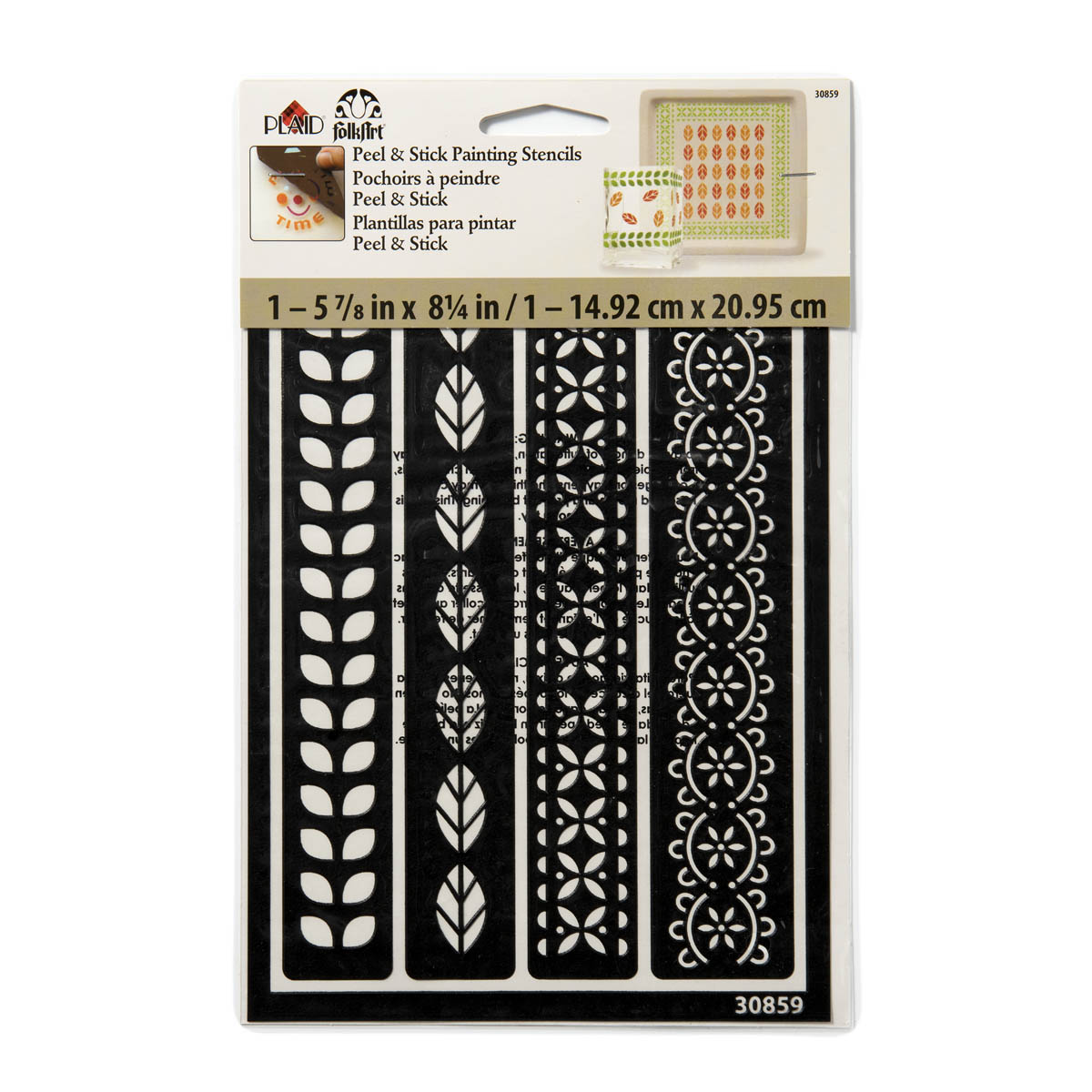FolkArt ® Peel & Stick Painting Stencils - Borders - 30859
