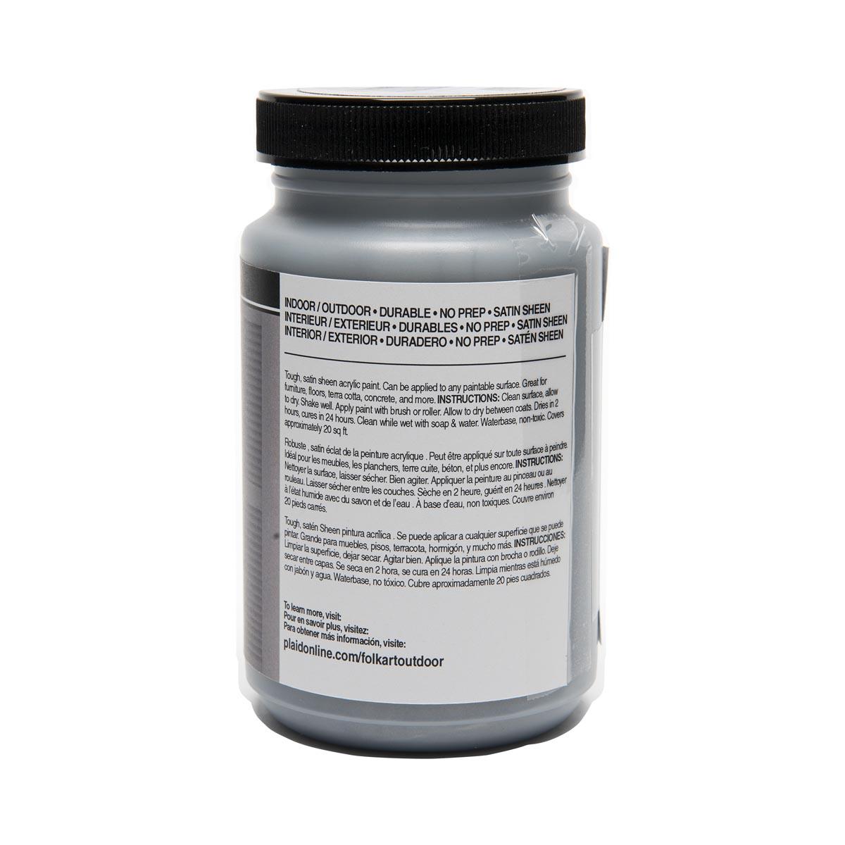 FolkArt ® Outdoor™ Acrylic Colors - Silver, 8 oz.