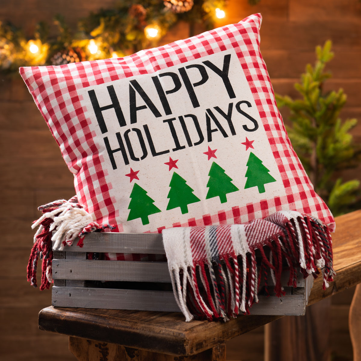 Happy Holiday Pillow