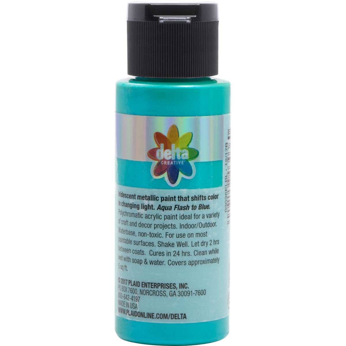 Delta Ceramcoat ® Acrylic Paint - Flash Metallic Aqua, 2 oz. - 03036