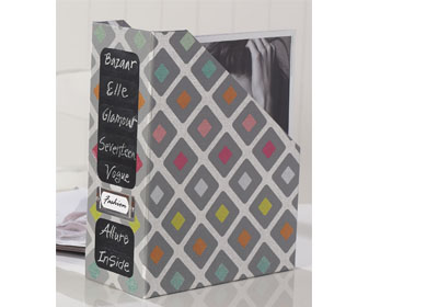 Mod Podge Wrapping Paper Magazine Holder