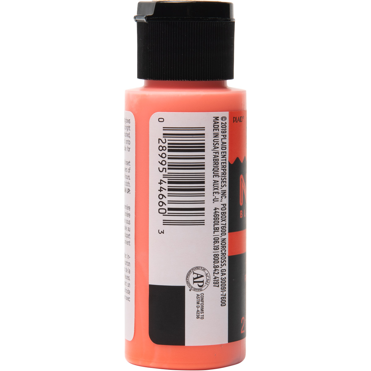 Fabric Creations™ Neon Black Light Fabric Paint - Orange, 2 oz.