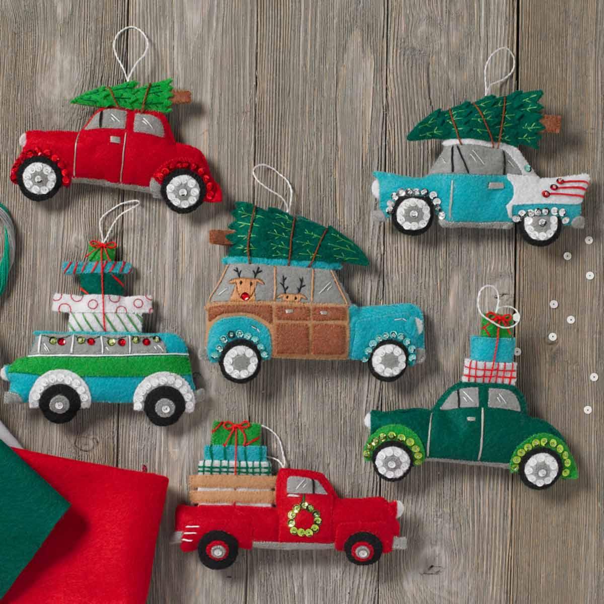 Bucilla ® Seasonal - Felt - Ornament Kits - Holiday Shopping Spree