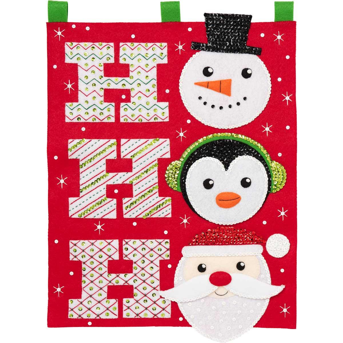 Bucilla ® Seasonal - Felt - Home Decor - Hallmark - Ho Ho Ho Wall Hanging