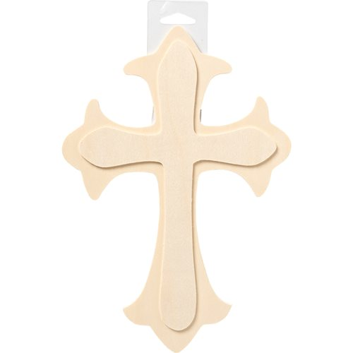 "Plaid ® Painter's Palette™ Wood Cross, 7.5"" x 11"""
