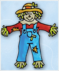 Fall Not-So-Scary Scarecrow Cling