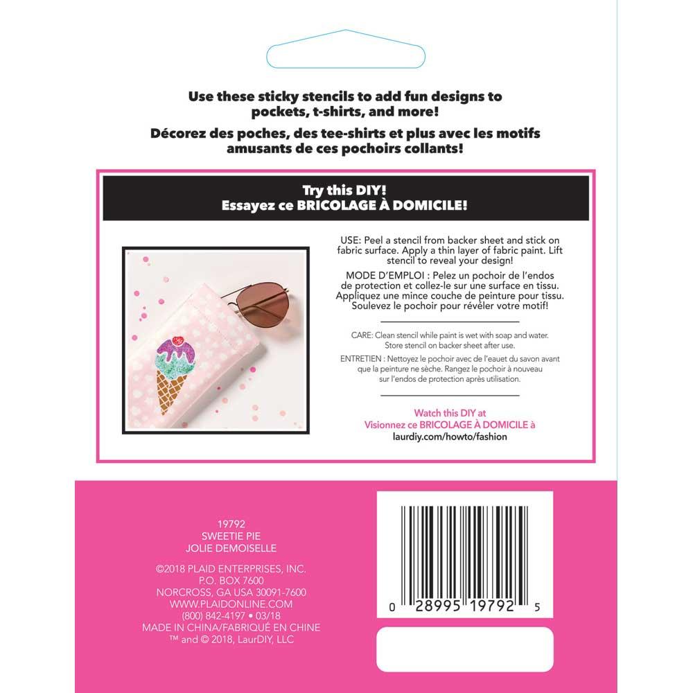 LaurDIY ® Peel & Stick Stencils - Small - Sweetie Pie