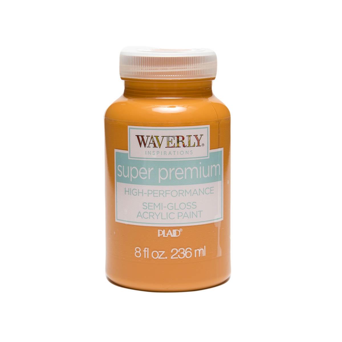 Waverly ® Inspirations Super Premium Semi-Gloss Acrylic Paint - Pumpkin, 8 oz.