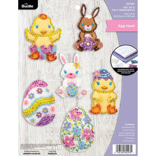 Bucilla ® Seasonal - Felt - Ornament Kits - Oversized Easter - 89293E