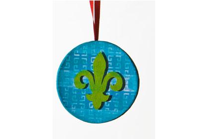 Fleur-de-lis Paper Mache Ornament