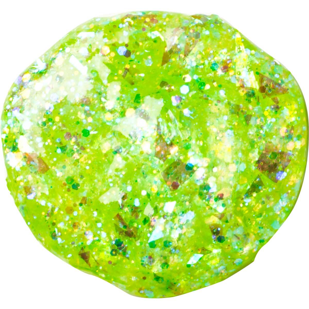 FolkArt ® Glitterific™ Acrylic Paint - Neon Lime, 2 oz.